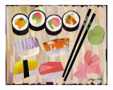 Sushi Combo Giclee Print by Eugene Han