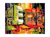 The South Beach Strip Giclee Print by Diane Millsap