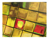 Barcelona Mosaic Red Giclee Print by Rebecca Felland-syring