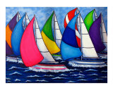 Colorful Regatta Giclée-trykk av Lisa Lorenz