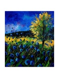 Blue Poppies 67 Giclee Print by  Ledent