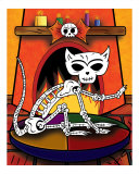 El Gato - The Day of the Dead Cat Photographic Print by Ladislao Loera