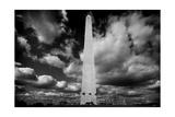 Washington Monument 1 BW Photographic Print by John Gusky