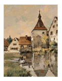 Village in Germany I Giclee Print by Robert Schaar