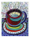 Steaming Coffee Giclee Print by Jennifer Lommers