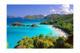 Trunk Bay Panorama, Saint John, US Virgin Islands Photographic Print by George Oze