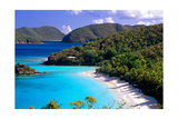 Trunk Bay Beach, St John, US Virgin Islands Photographic Print by George Oze