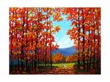 Autumn Path IV Posters por Patty Baker