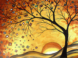 Megan Aroon Duncanson - Dreaming in Gold - Giclee Baskı