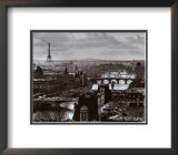 The River Seine and the City of Paris, c.1991 Print by Peter Turnley