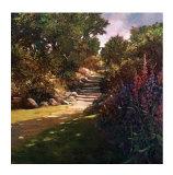 Garden Steps Giclee Print by Philip Craig