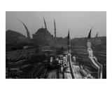 mosque graphic istanbul turkey Photographic Print by Rebecca Erol