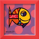 Striped Fish Posters by Romero Britto