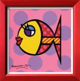 Dittie Fish Prints by Romero Britto