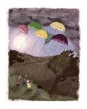 Rain Kites Giclee Print by K M P Hartman