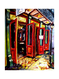 Big Red Doors in the French Quarter Giclee Print by Diane Millsap