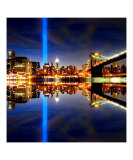 911 Tribute in Lights, NYC Giclee Print by New Yorkled
