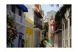 Colorful Street, Old San Juan, Puerto Rico Reprodukcja zdjęcia autor George Oze