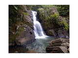 La Mina Waterfall, El Yunque, Puerto Rico Photographic Print by George Oze