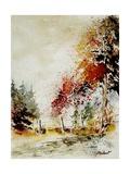 Watercolor Fall Poster por  Ledent