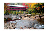 Covered Bridge over the Swift River, Conway, NH Photographic Print by George Oze