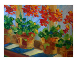 window flowers Giclee Print by J Ironside