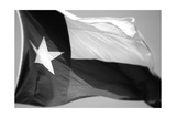 Texas Flag BW Photographic Print by John Gusky