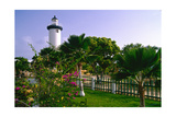 Rincon Lighthouse and Garden, Puerto Rico Photographic Print by George Oze