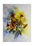 Watercolor Sunflowers Giclee Print by Ledent 