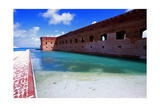 Moat of Fort Jefferson Photographic Print by George Oze