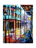 Rain on Royal Street Lmina gicle por Diane Millsap