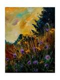Cornflowers Yellow Purple Posters por  Ledent