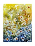 Daisies Watercolor Giclee Print by Ledent