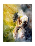 Watercolor Couple Giclee Print by  Ledent