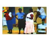 Jamaicans in Negril Giclee Print by Daniel Berkeland