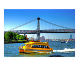 New York City Water Taxi on the East River Giclee Print by New Yorkled