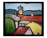 Rooftops in Murnau Giclee Print by Andrea Larson