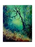 Dead Tree in Misty Landscape Posters por  Ledent