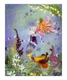Waiting Mermaid Lámina giclée por Shelley Xie