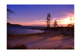 Winter Sunset, Sand Beach Bay, Lake Tahoe Photographic Print by George Oze