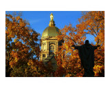 Notre Dames Golden Dome Fall Photographic Print by Paul Severio Brutoco