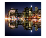 Mighty NYC Light in the Night Sky Giclee Print by New Yorkled
