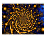 Gold Orbit Photographic Print by Vicky Brago-Mitchell