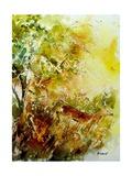 Watercolor Deer 1 Giclee Print by  Ledent