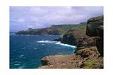 Rocky Northwest Maui Shoreline Impressão fotográfica por George Oze