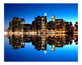 New York City - Glow of Lights Giclee Print by New Yorkled