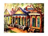 New Orleans Shotgun Houses Giclee Print by Diane Millsap