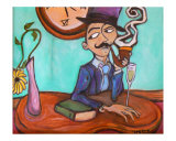 The Smoker Giclee Print by Jeffrey Kmoch