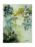 Watercolor Watermill Pôsters por  Ledent