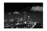 Chicago Night Lights Photographic Print by Steve Gadomski